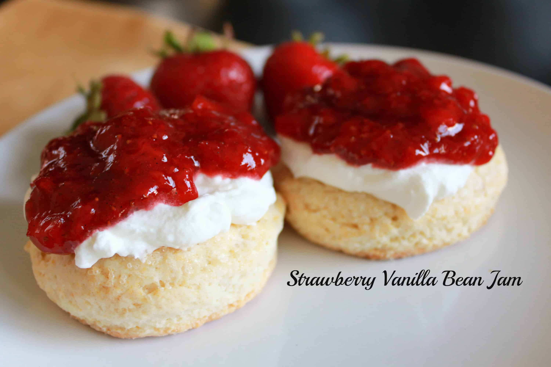 Easy Strawberry Vanilla Bean Jam - Celebrating Sweets