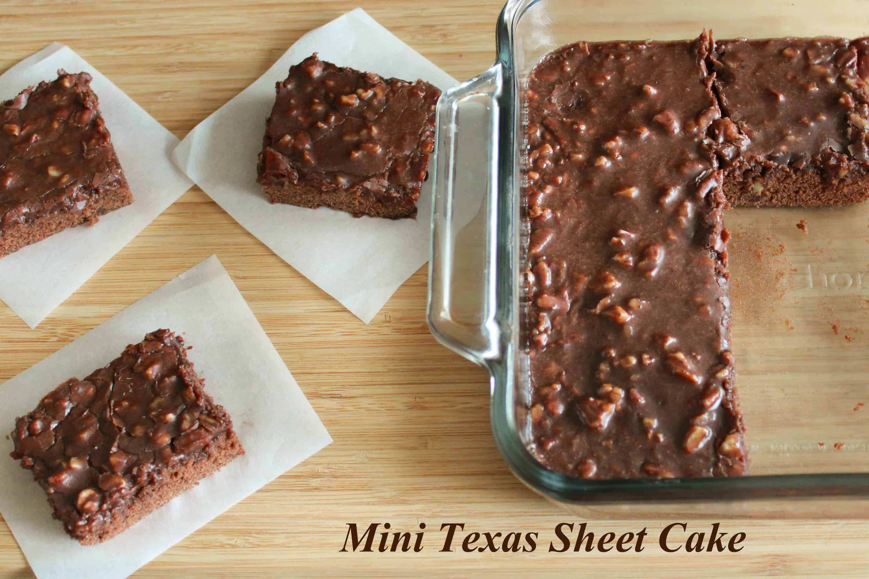 Mini Texas Sheet Cake Celebrating Sweets