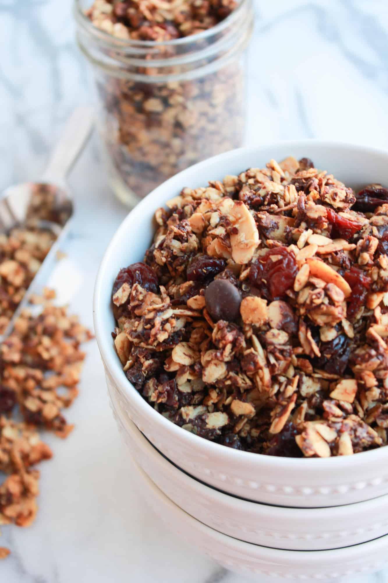 Cherry, Dark Chocolate and Quinoa Granola