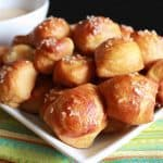 Soft Pretzel Bites with White Cheddar Dipping Sauce