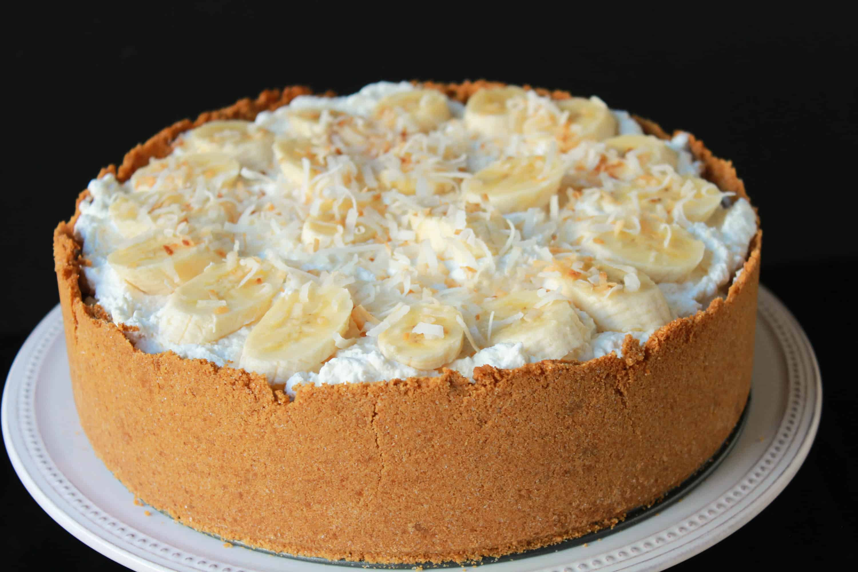 Deep Dish Coconut Banana Cream Pie | Celebrating Sweets