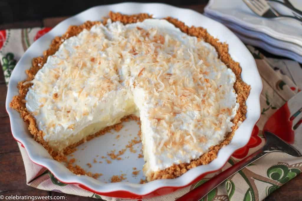 Coconut Cream Pie with Graham Cracker Crust | Celebrating Sweets