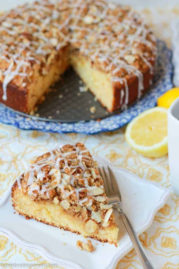 Lemon Almond Coffeecake ~ Celebrating Sweets