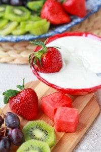 Light Vanilla Cream Cheese Fruit Dip