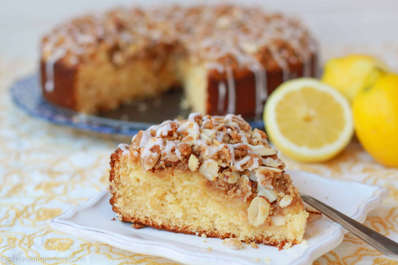Lemon Curd Cream Cheese Coffee Cake