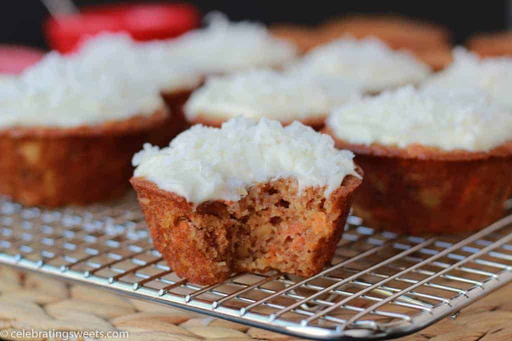 Light Carrot Cake Cupcakes with Cream Cheese Frosting | Celebrating ...