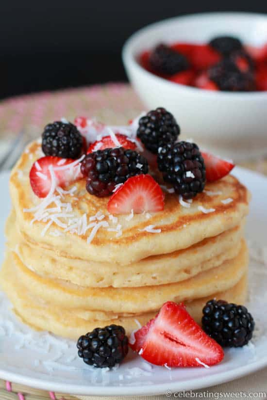 Coconut Pancakes from Celebrating Sweets