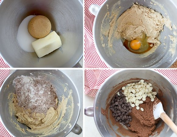 Ingredients for making chocolate cookies.