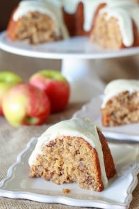 Double Apple Bundt Cake - Celebrating Sweets