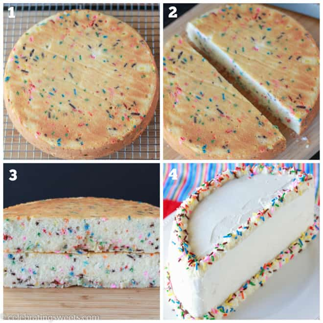 How to make a half birthday cake