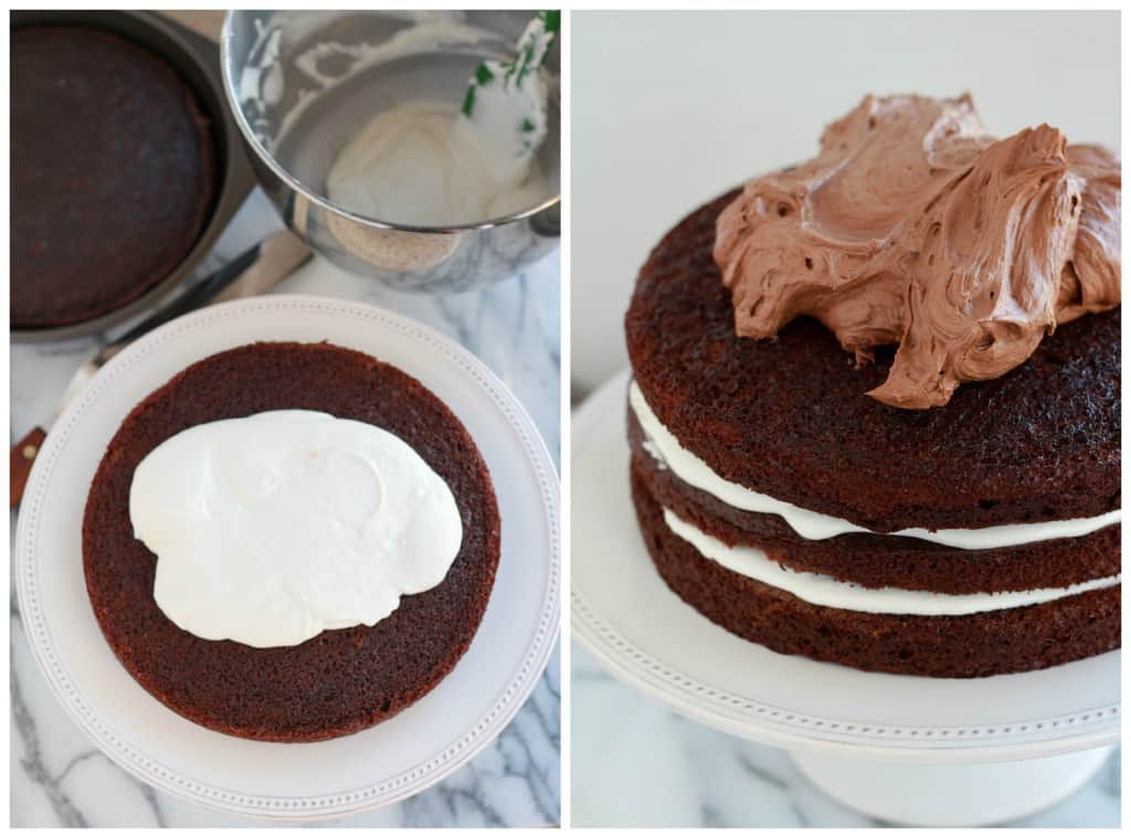 Chocolate Marshmallow Cake Collage