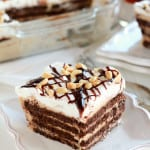 Peanut Butter Fudge Icebox Cake