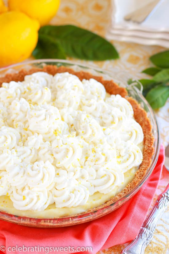Lemon Cream Pie - Tart, sweet and super creamy. The perfect lemon pie.