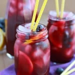 Homemade Blueberry Lemonade - SO good!