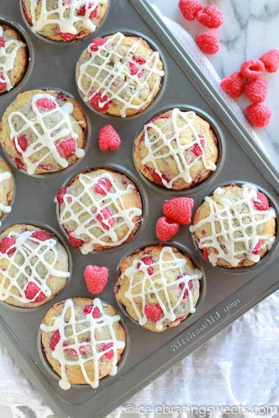 Raspberry Vanilla Muffins