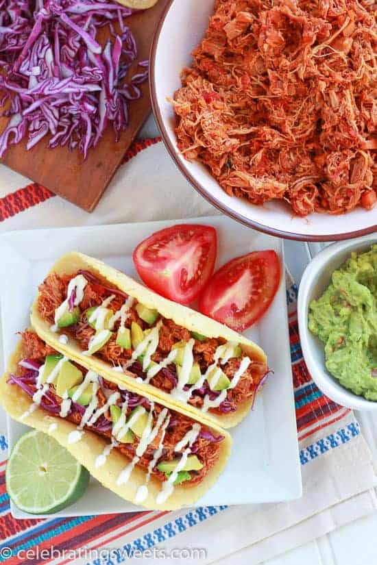 Easy Slow Cooker Chipotle Chicken - perfect for tacos, burritos, nachos, and more!