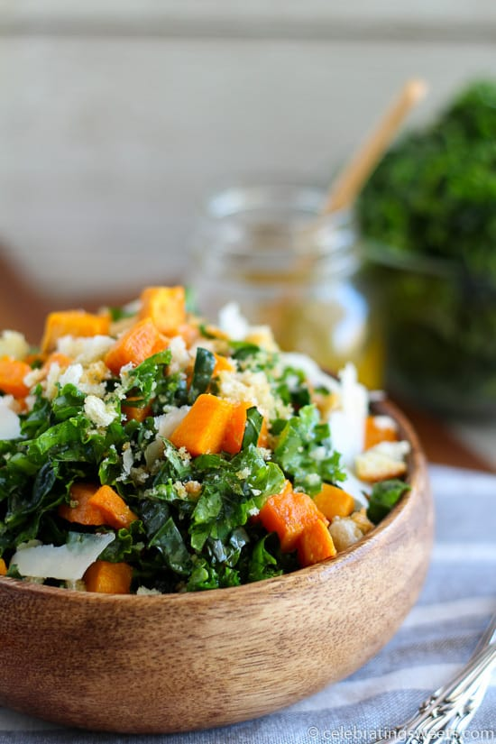 Kale And Sweet Potato Salad Celebrating Sweets