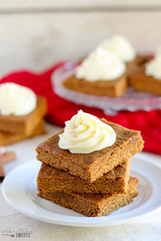 recipe for Chewy Gingerbread Bars with Orange Cream Cheese Frosting ...