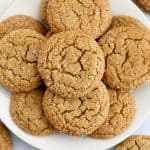 Ginger Molasses Cookies on a plate.