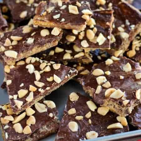 Peanut Butter Graham Cracker Toffee