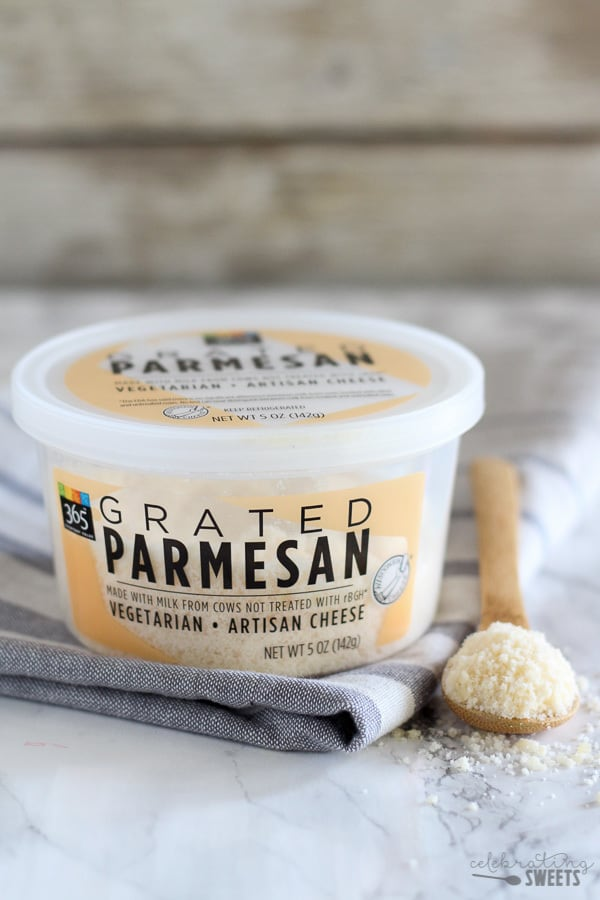 Whole Foods Parmesan Cheese.