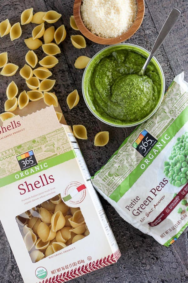Ingredients to make Pesto Pasta Salad