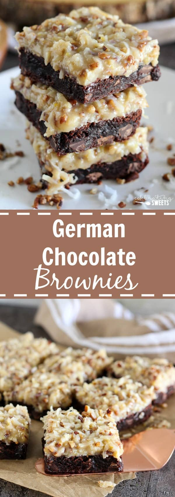 Caramel Pecan German Chocolate Brownies