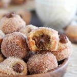 Donut holes filled with nutella.