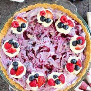 Berry ice cream pie.