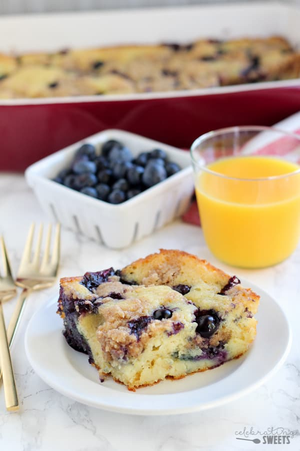 Blueberry Buttermilk Pancake Casserole Celebrating Sweets
