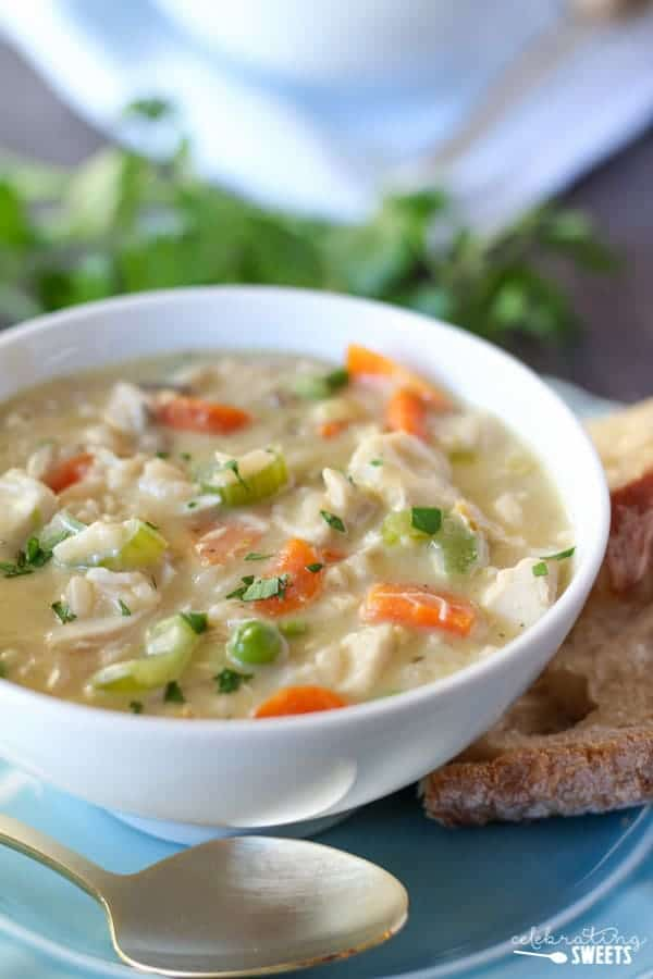 Easy Creamy Chicken & Wild Rice Soup