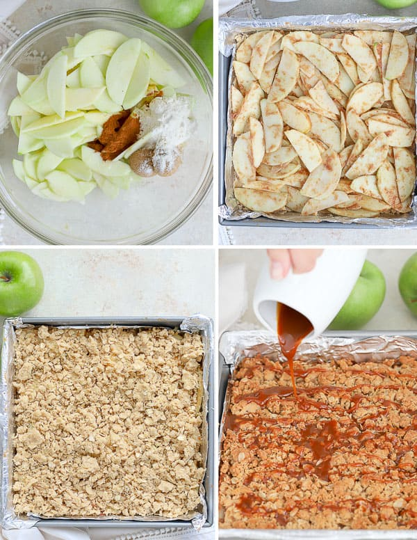 How to make Caramel Apple Bars.