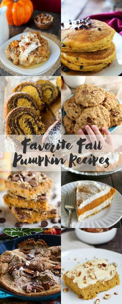 Pumpkin recipes collage