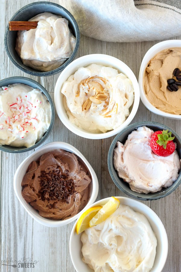 Seven Flavors of Homemade Whipped Cream.
