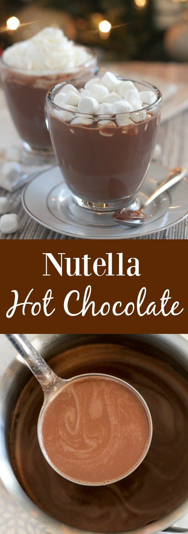 Nutella Hot Chocolate in a mug.