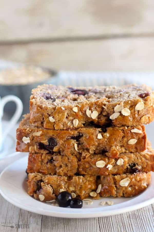 Blueberry Oatmeal Bread | Celebrating Sweets