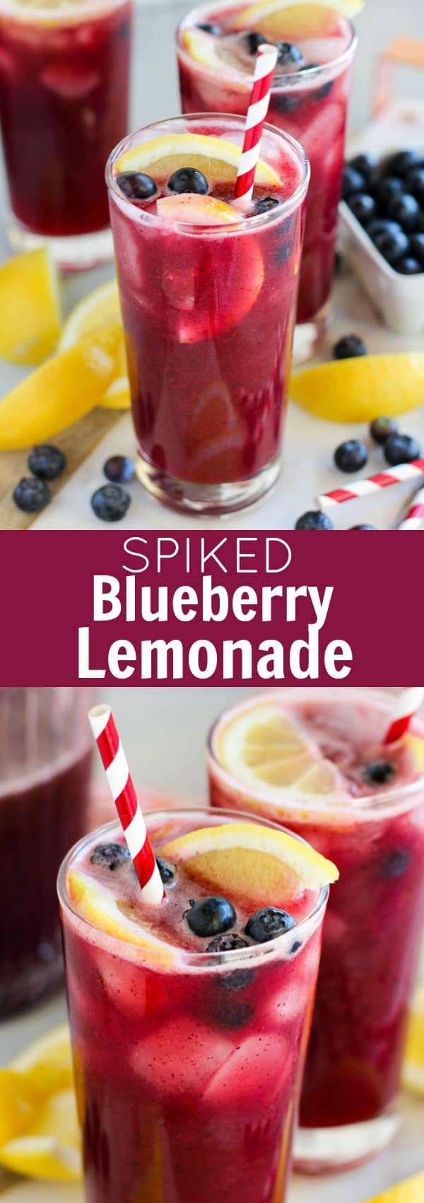 Spiked Blueberry Lemonade - Easy Homemade Blueberry Lemonade spiked with Vodka! Sweet and tart, cold and refreshing - the perfect cocktail for summer!