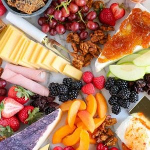 Fruit and Cheese Board - Tips and suggestions for creating an easy and beautiful Fruit and Cheese Board.