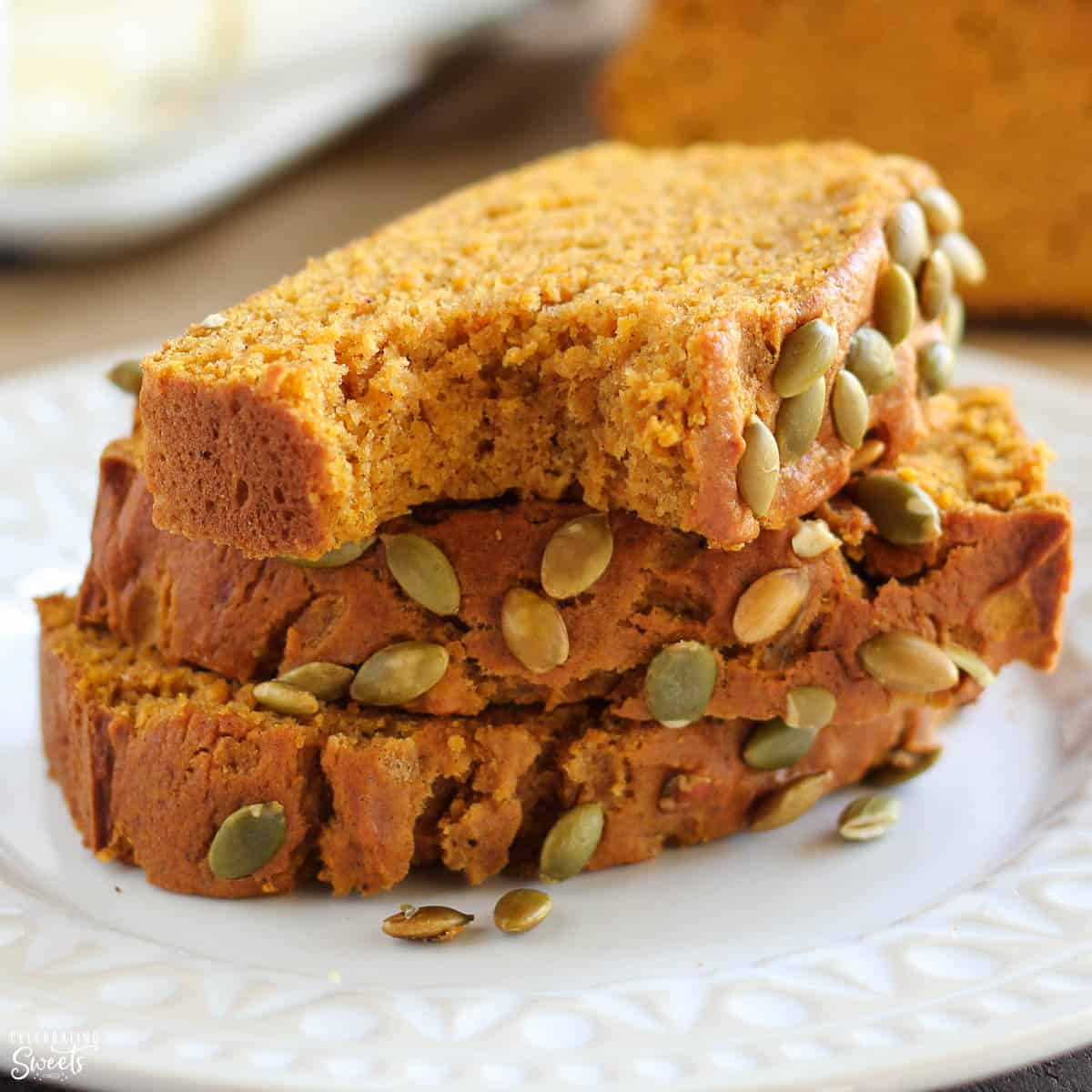 Healthy Pumpkin Bread Celebrating Sweets