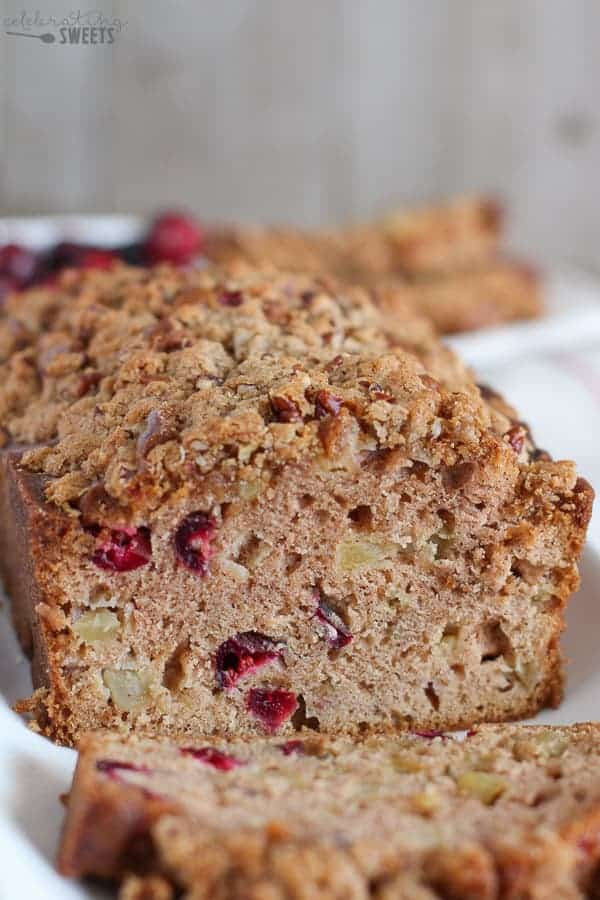 Apple Cranberry Bread - Celebrating Sweets