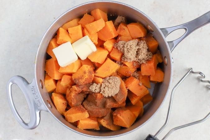 How to make sweet potato casserole.