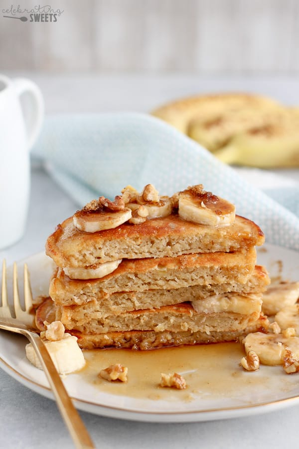 Banana Pancakes - Celebrating Sweets