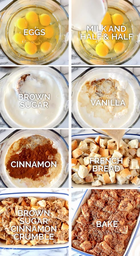 Step by step to make Baked French Toast