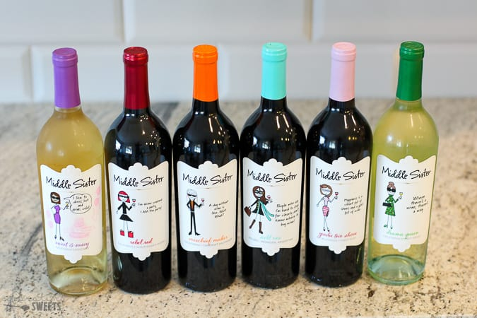Bottles of Middle Sister wines.