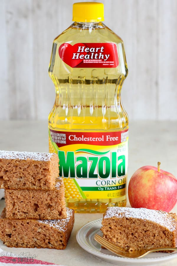 Mazola Corn Oil and Applesauce Cake.