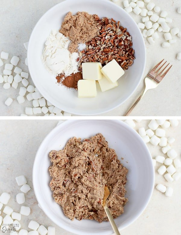 Brown sugar streusel for Sweet Potato Casserole