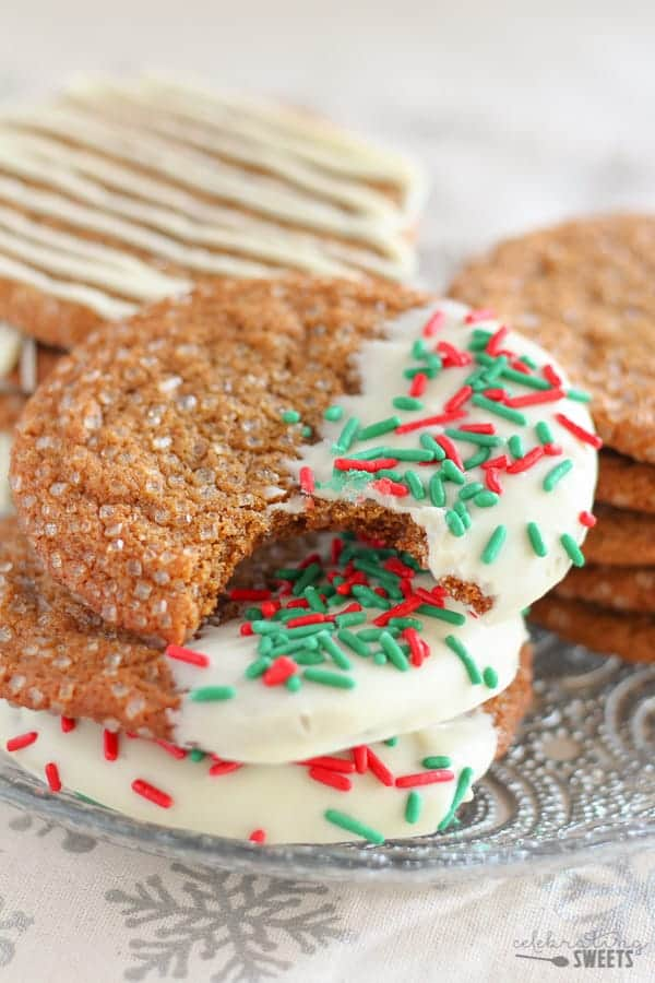 Soft Chewy Ginger Molasses Cookies Celebrating Sweets