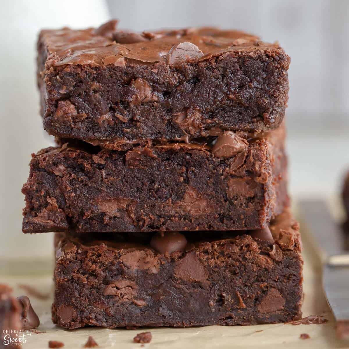 Homemade Brownies Celebrating Sweets