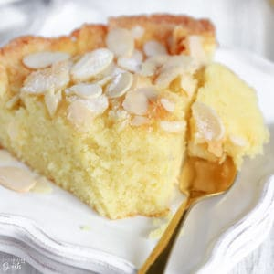Slice of Almond Cake on a plate