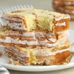 Three slices of Cinnamon Bread
